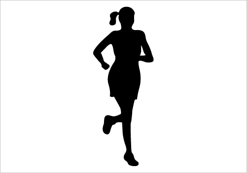 501x351 Girl Running Silhouette Free Clipart Images 2