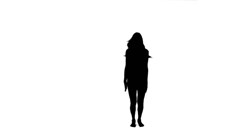 852x480 A Silhouette Woman Is Exercising On Her Own Against A White