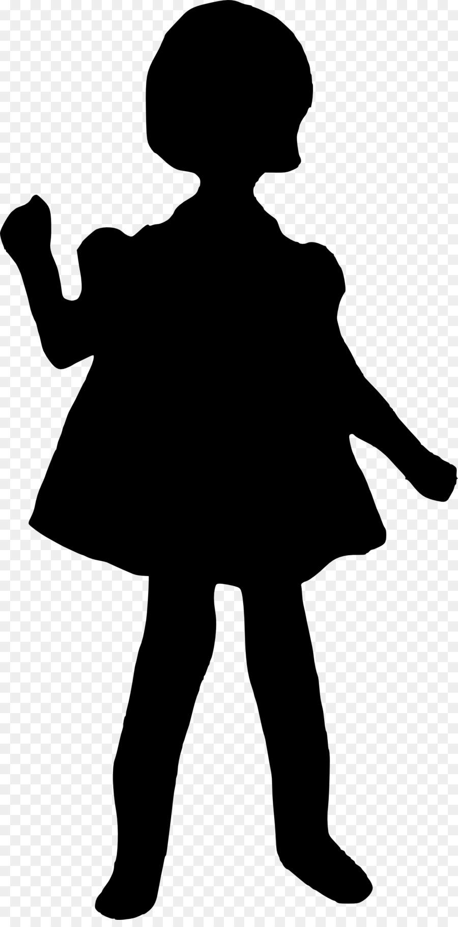 900x1820 Silhouette Girl Clip Art