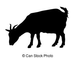 253x194 Silhouette Goat Vector Clipart Royalty Free.