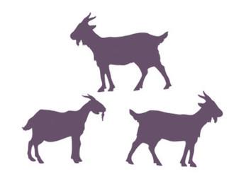 340x270 Goat Clipart Stencil