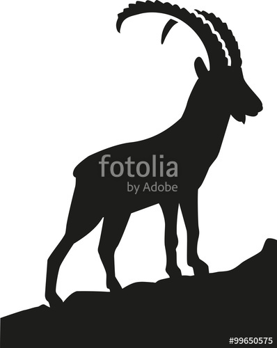 398x500 Goat Silhouette In Front Of Moon Stock Image And Royalty Free