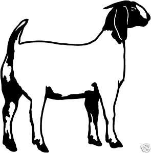 295x300 Boer Goat Silhouette Clipart Panda