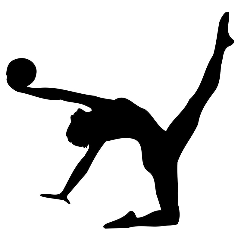 800x800 Hot Sale Gymnast Floor Exercise Silhouette Sticker For Car Rear