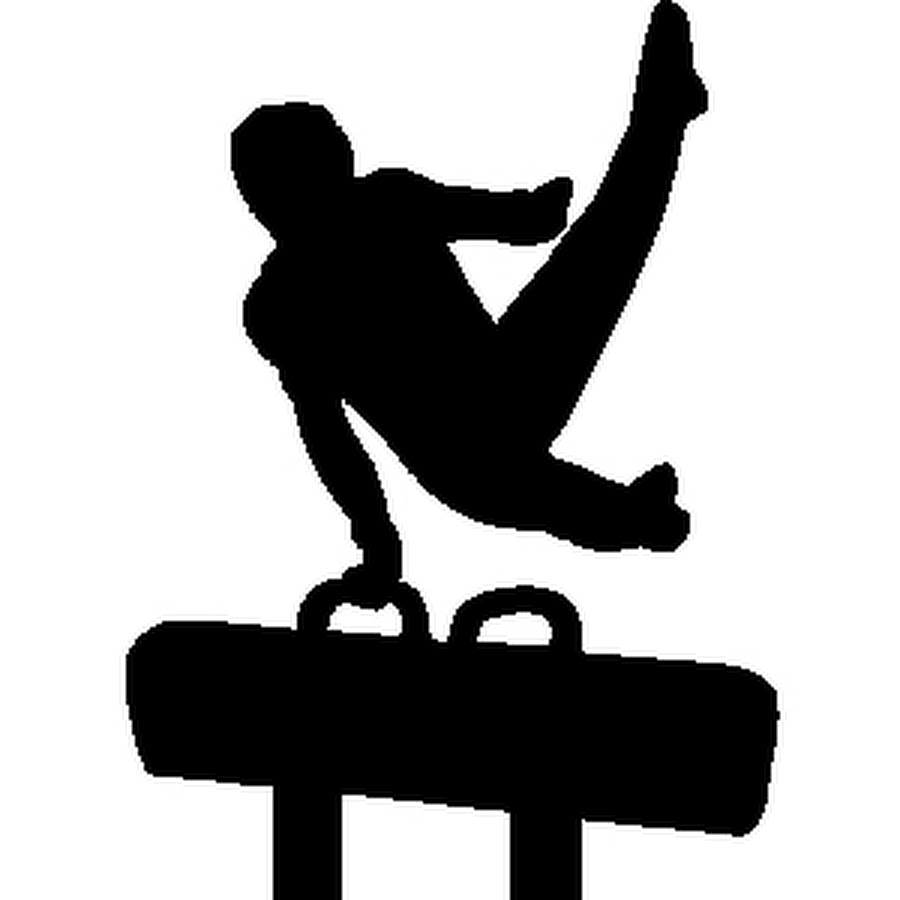 900x900 Blacknd White Silhouette Of Girl Gymnast Performing