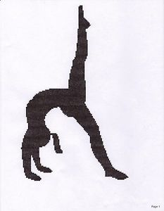 233x300 Gymnast Walkover Counted Cross Stitch Pattern