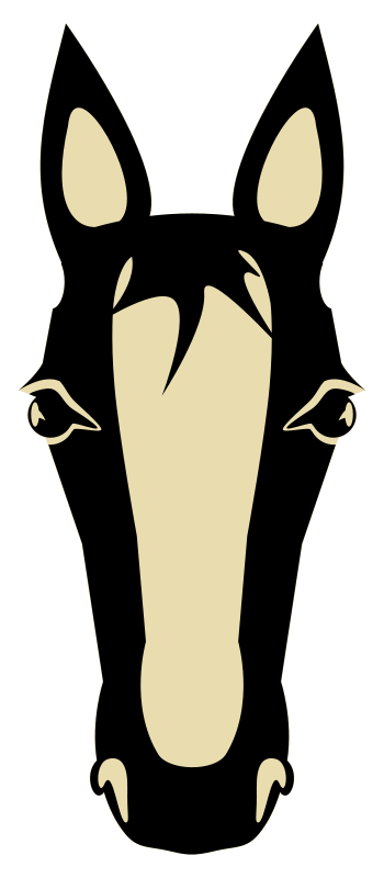 350x800 Silhouette Horse Head Clipart Image 2