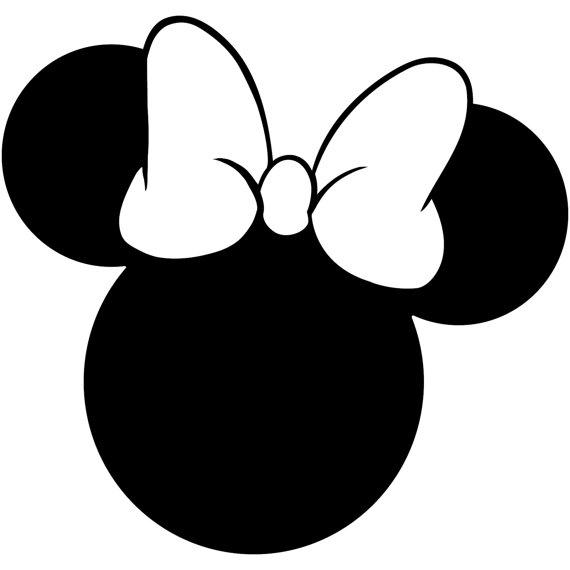 570x570 Superb Minnie Head Mouse Silhouette Walt Disney Disneyland World
