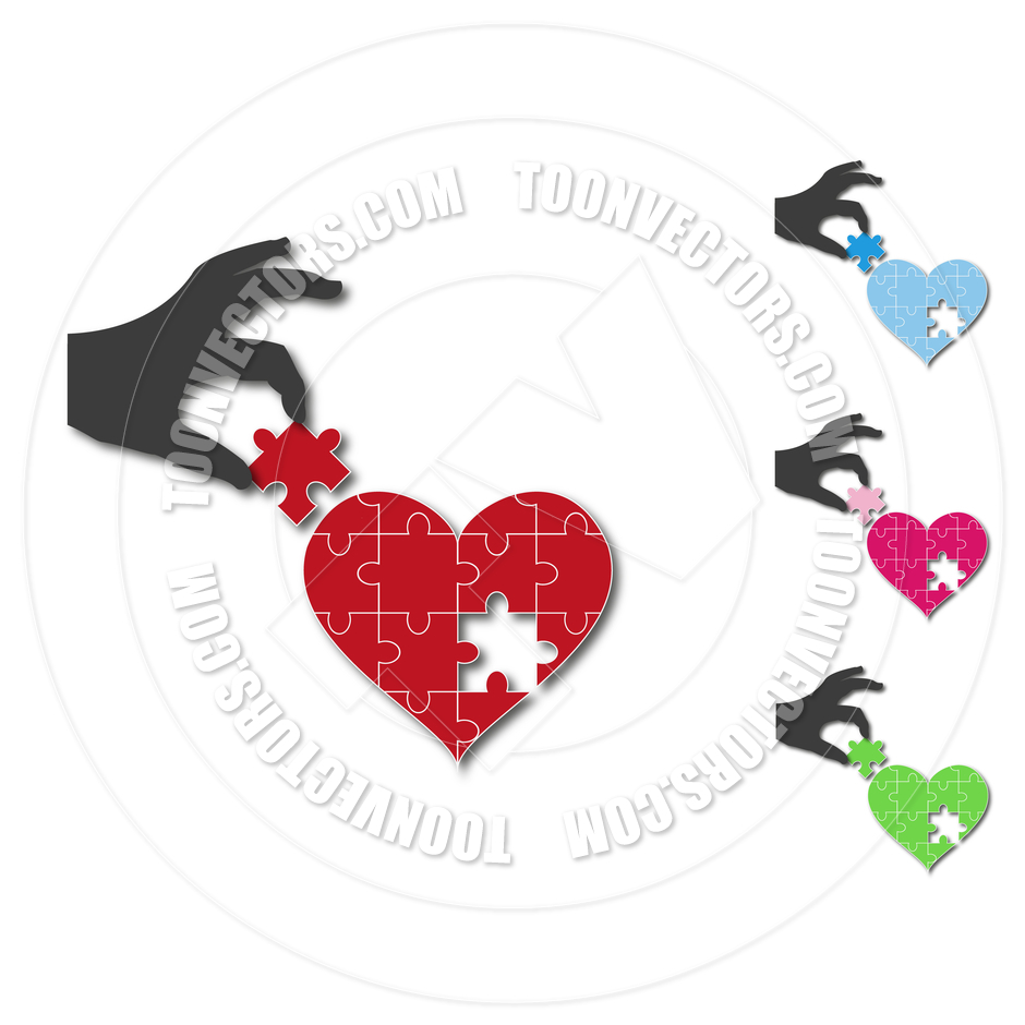 940x940 Silhouette Of A Hand With A Heart Jigsaw Puzzle By Jartdesign.nl