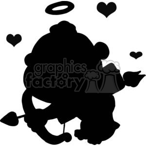 300x300 Arrow Heart Clipart Black And White For Silhouette