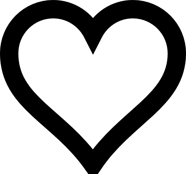 600x560 Heart Outline Clip Art