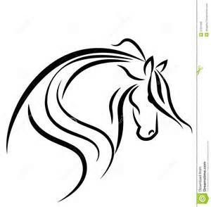 300x294 Horse Head Outline Drawings