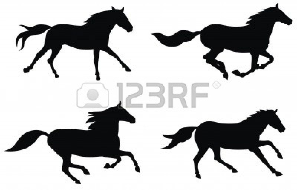 Silhouette Of A Horse Running At Getdrawings Free For Personal