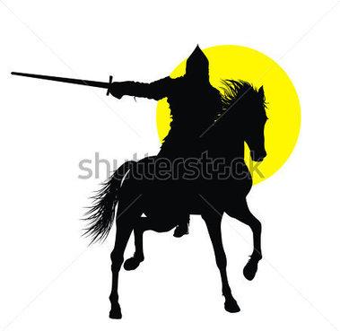 379x369 Knight Silhouette Clip Art