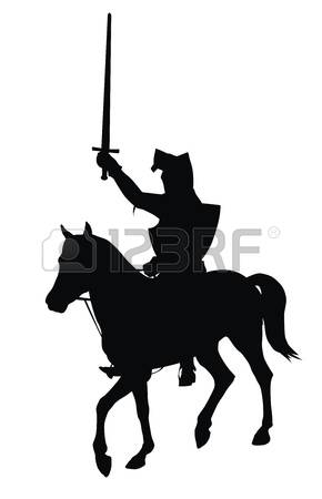 290x450 Knight Silhouette Clipart