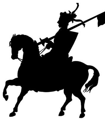 355x400 On Horseback Clipart