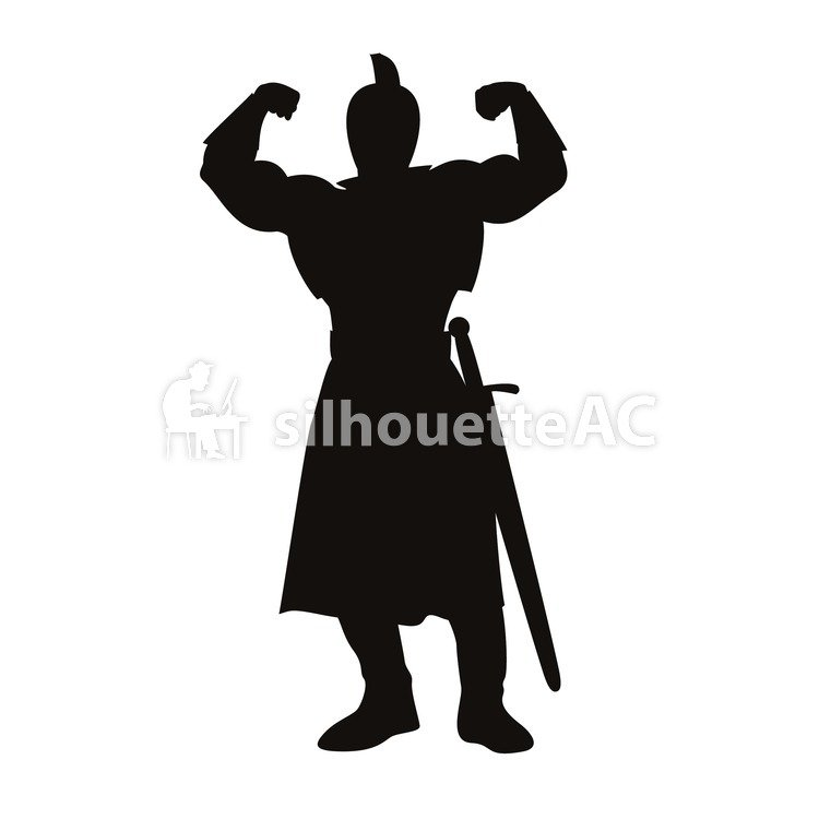 750x750 Free Silhouette Vector Icon, Guts Pose, Simple