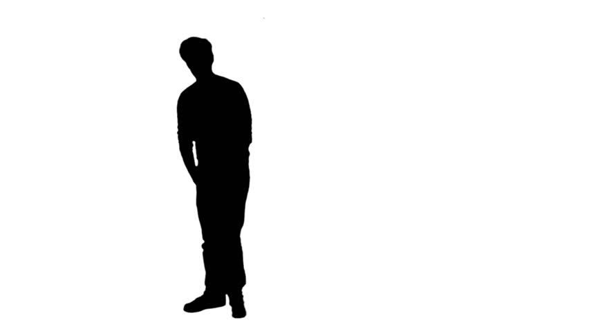 852x480 Stand Alone Posing Man Silhouette