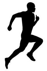 164x248 Man Running Away Silhouette