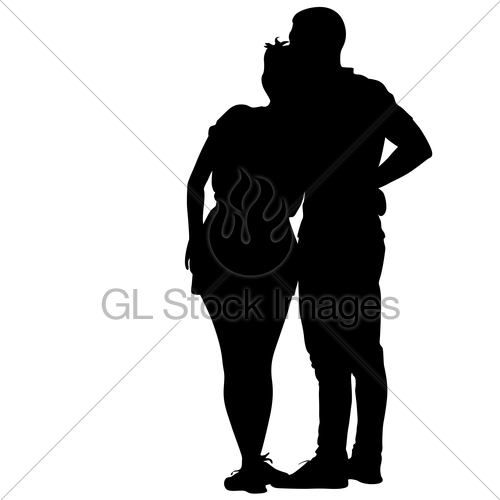 500x500 Silhouette Man And Woman Walking Hand In Hand Gl Stock Images