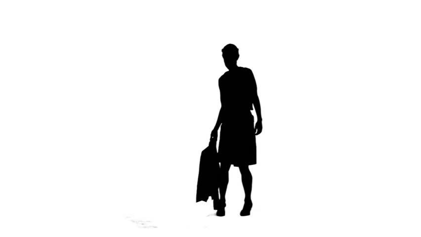 852x480 Businessman Walking His Briefcase , Man Walking