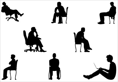 501x351 Man Sitting Silhouette Vector Graphicssilhouette Clip Art Photog