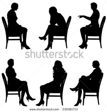 365x381 Person Sitting In Chair Silhouette Penaime