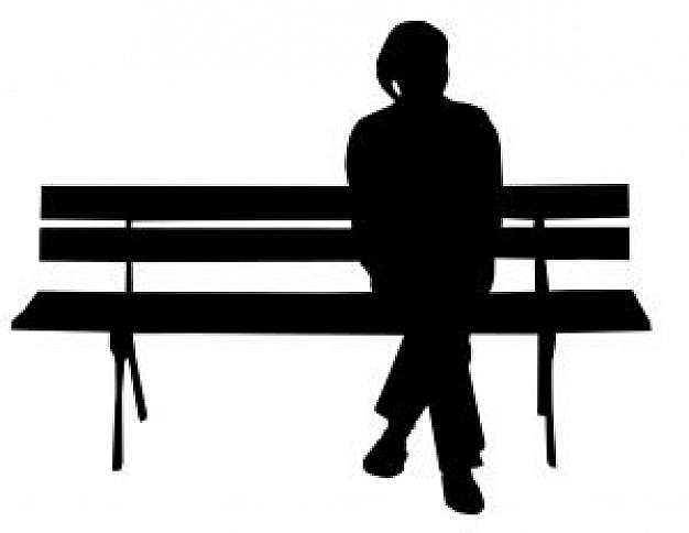 626x484 Person On Bench Silhouette Photo Free Download