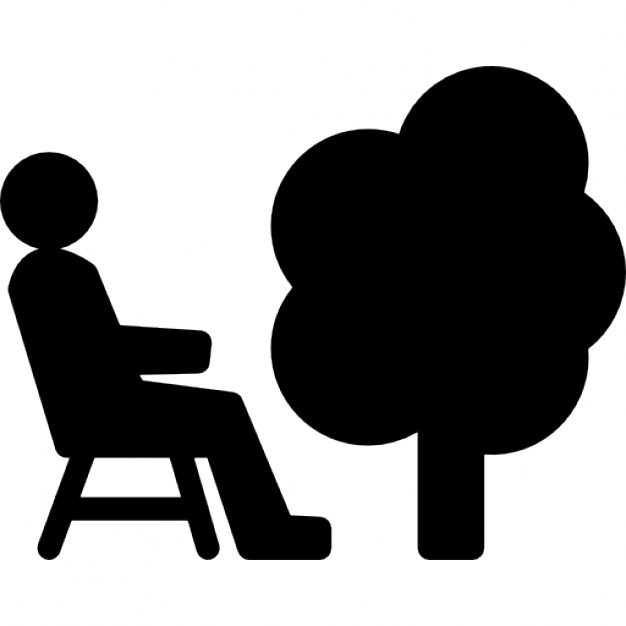 626x626 Person Sitting On A Chair Beside A Tree Icons Free Download