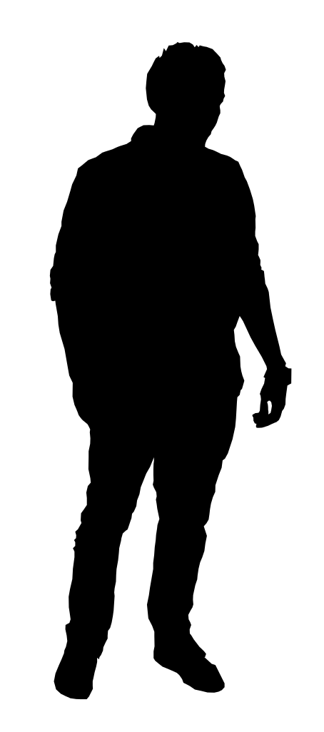 Silhouette Of A Person Standing