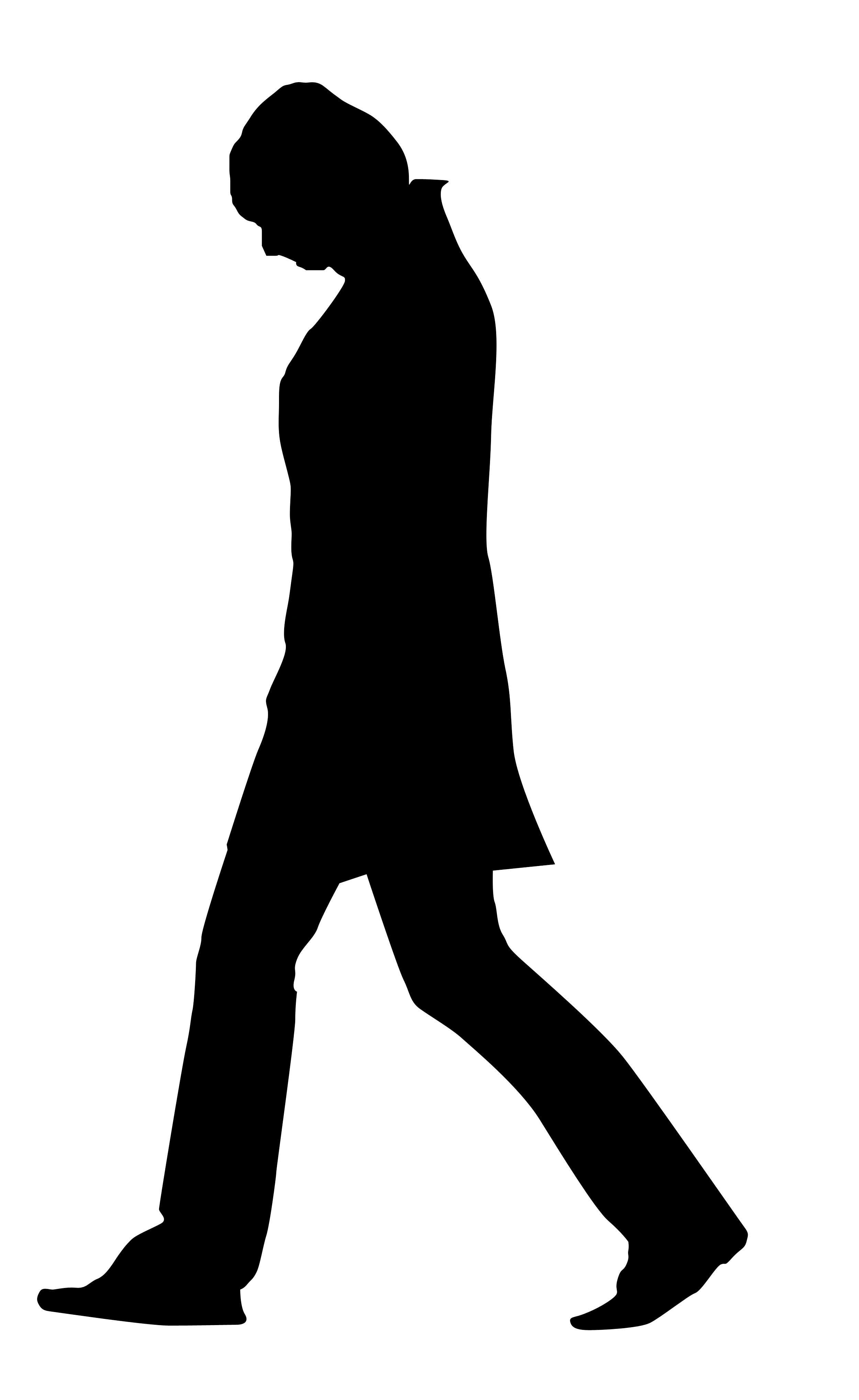 Silhouette Of A Person Walking