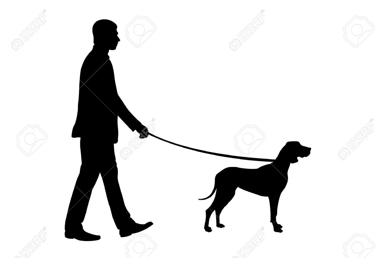 1300x870 People Clipart Silhouette Walking