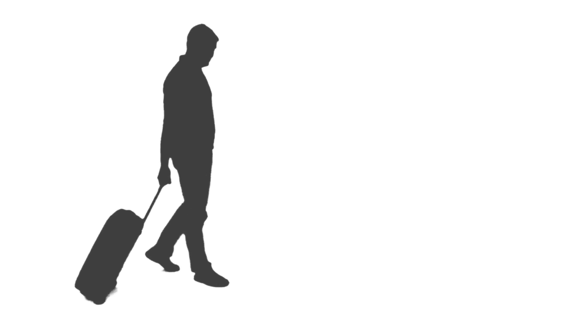 1920x1080 Silhouette Of A Man Walking With A Suitcase And Waiting