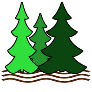 300x300 Pine Tree Silhouette Clip Art Cliparts Accent Wall Mural