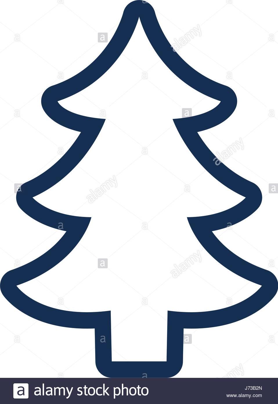 958x1390 Silhouette Tree Pine Christmas Decoration Stock Vector Art