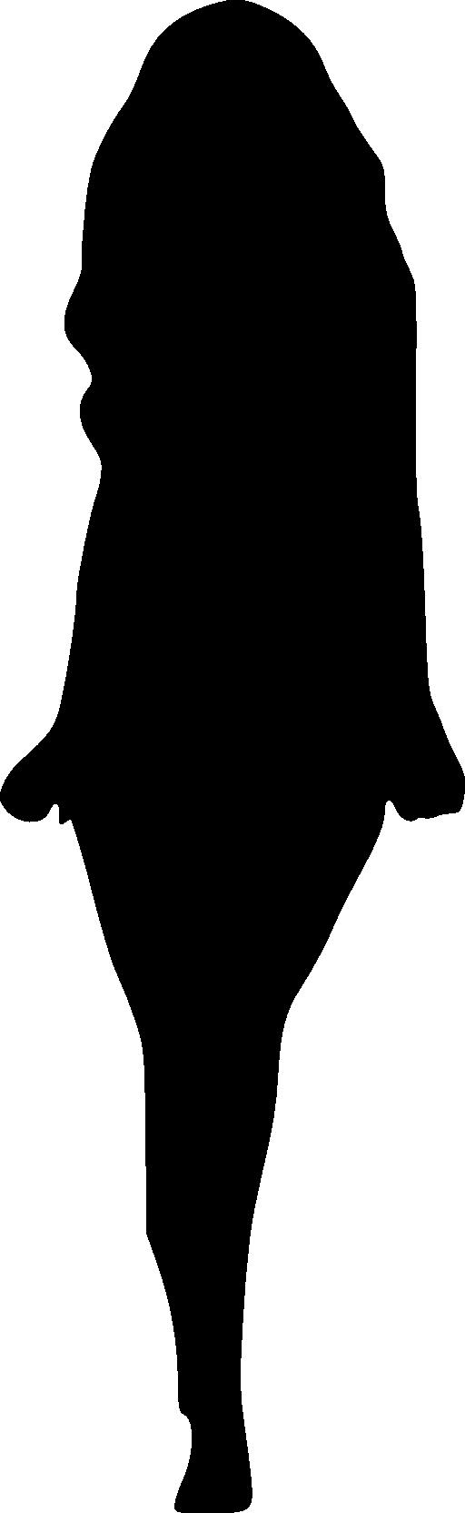 512x1663 Girl Outline Clipart Clipart Panda