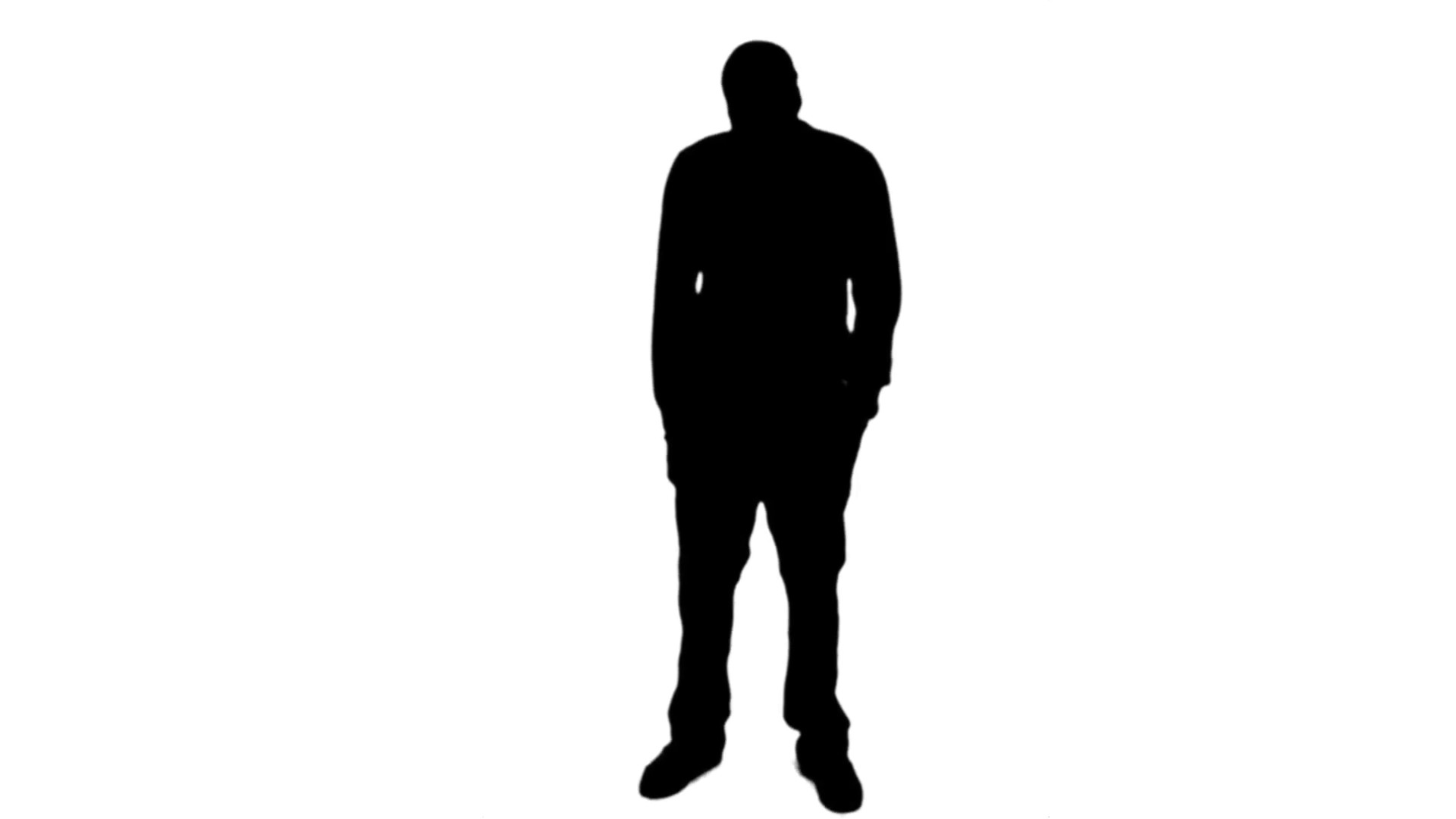 1920x1080 Vector Silhouette Of Very Sad Young Man Sitting Alone On White