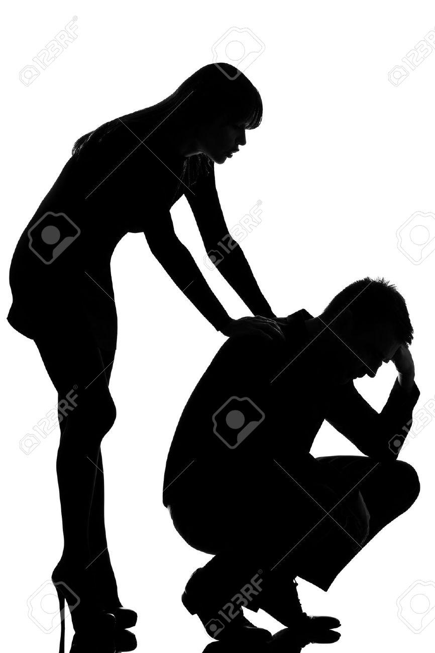 866x1300 Sad Man Clipart Black And White Silhouette