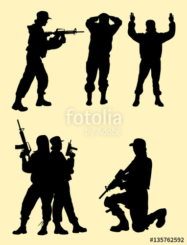 382x500 Beautiful Female Soldier Gesture Silhouette. Good Use For Symbol