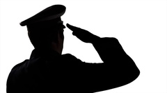Silhouette Of A Soldier Saluting