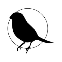 200x200 Silhouette Of Sparrow Vector Image