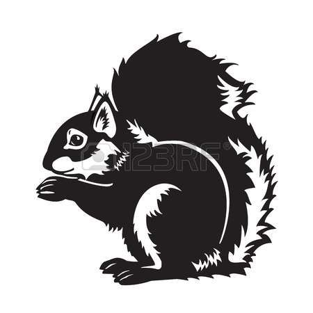450x450 Red Squirrel Clipart Silhouette 3847350