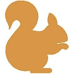 236x236 Printable Squirrel Silhouette