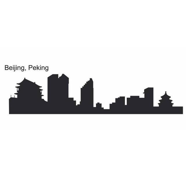 640x640 Dctal Beijing City Decal Landmark Skyline Wall Stickers Sketch