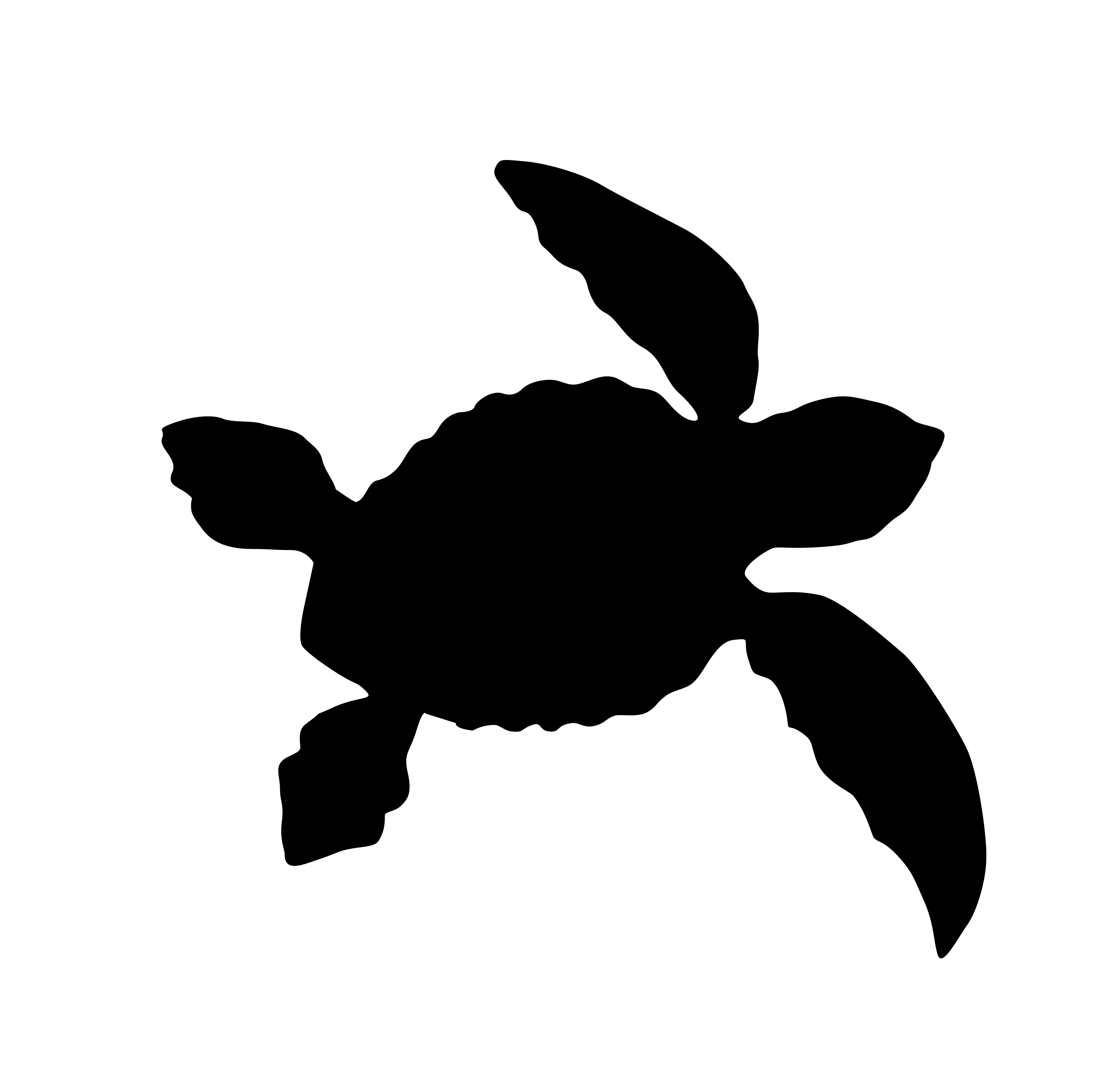 Silhouette Of A Turtle