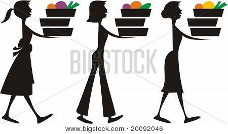 450x265 Woman Cooking Silhouette Clipart Panda
