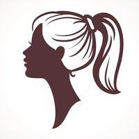 200x200 Woman Face Girl Head Stock Vectors