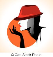 180x195 Beautiful Woman Face Silhouette. Beautiful Woman Face Vector