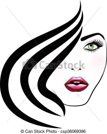375x470 Face Of Pretty Woman Logo. Face Of Pretty Woman Silhouette Eps