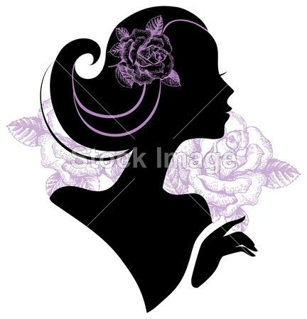 Silhouette Of A Woman Head